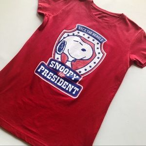 Snoopy For President Graphic Tee